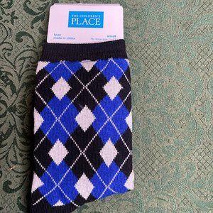 NWT 11-13 dress socks boys argyle weddings holiday